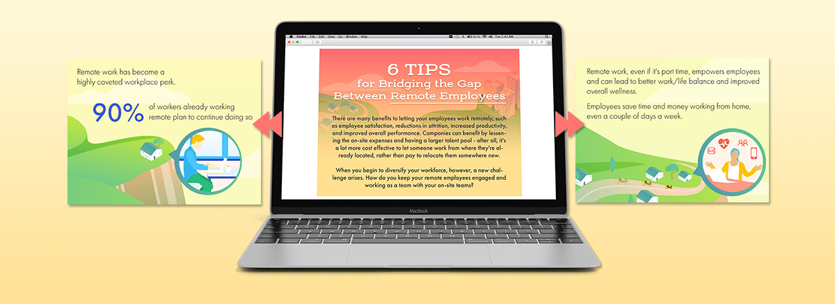 6 Tips for Bridging the Gap Between Remote Employees Email Image-min